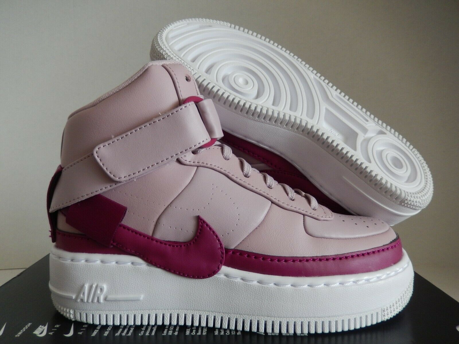 WMNS AF1 AIR FORCE 1 JESTER HI XX PLUM CHALK-TRUE BERRY-WHITE SZ 6 [AR0625-501]