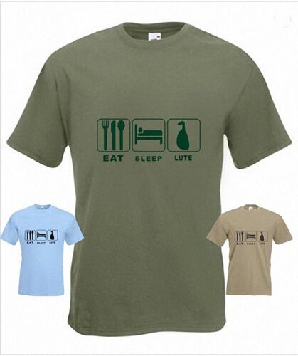 Eat Sleep Lute Funny T-Shirt in any size