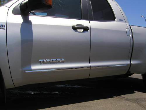 BODY SIDE Moldings CHROME Trim Mouldings For TOYOTA TUNDRA DOUBLE CAB 2007-2019