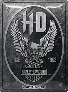 Harley-Davidson-Metallico-Aquila-Logo-Grande-Goffrato-Metallo-Firmare-400mm-x