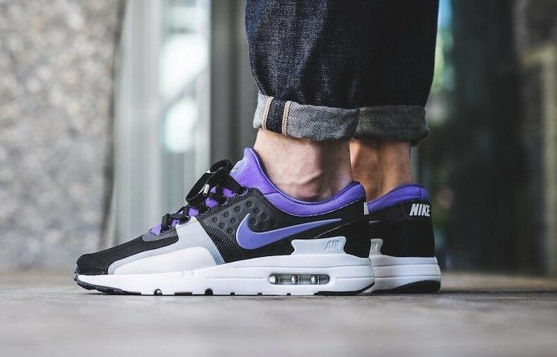 wholesale dealer 21f8e a119a Nike Air Max Zero QS Sz 10 Black Persian Violet Running Shoes 789695 004