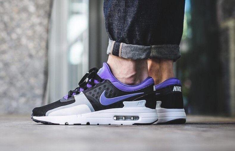Homme NIKE AIR MAX ZERO QS Violet Noir ATHLETIC RUNNING Chaussures 789695-004 - Sz 10
