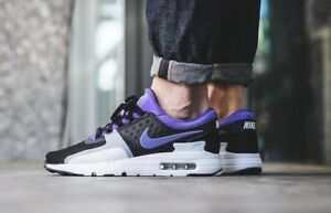 buy online 0bf15 6332c Image is loading MENS-NIKE-AIR-MAX-ZERO-QS-PURPLE-BLACK-