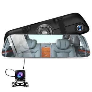 AZDOME-HD-1080P-Auto-Kamera-Rueckspiegel-Touchscreen-DVR-mit-170-IR-Nachtsicht