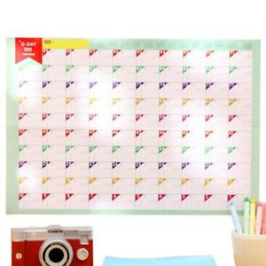 100 Day Countdown Calendar Schedule Periodic Table Study Planning