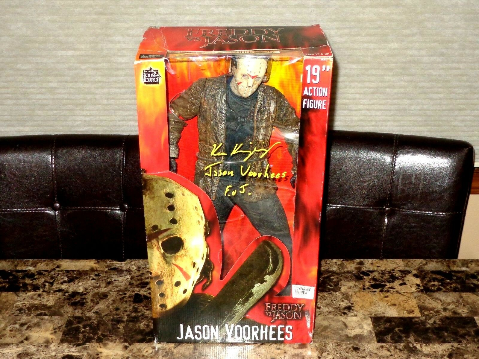 Friday The 13th Signed Jason Vorhees NECA 19  Action Figure NECA Ken Kirzinger +