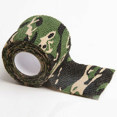 5cm x 4.5m Army Camo Wrap Rifle Shooting Hunting Camouflage Stealth Tape Outdoor
