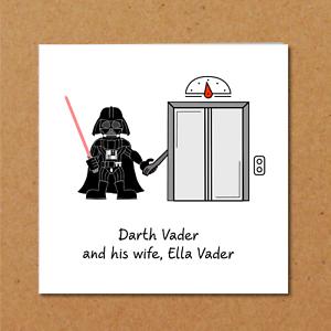 Star Wars Carte Anniversaire Dark Vador Drole Humoristique Humour Amusant Blank Ebay