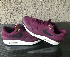 NIKE AIR MAX 1 Premium Sz 11.5 Bordeaux Desert Moss Black Patta 875844 601