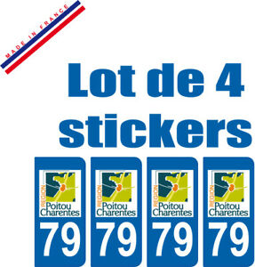 Rationnel 4 Stickers Plaque Auto Immatriculation Departement 79 Moins Cher