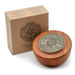 Scapicchio-039-s-Fig-Olive-and-Bay-Rum-Shaving-Soap-in-Wooden-Bowl-or-Refill