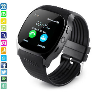 Bluetooth Smart Watch with Camera SIM Slot For Android Samsung S8 S7