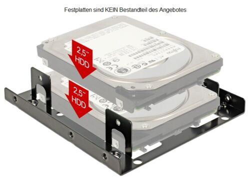 """Delock Metallo telaio di montaggio per 2x 2,5/"""" HDD//SSD dischi rigidi in 3,5/"""" alloggiamento di montaggio"""