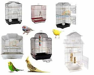 SMALL-LARGE-METAL-BIRD-BUDGIE-CANARY-FINCH-COCKATIEL-CAGE-CAGES-WITH-ACCESSORIES