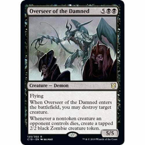 Commander 2019 Overseer of the Damned The Gathering Magic