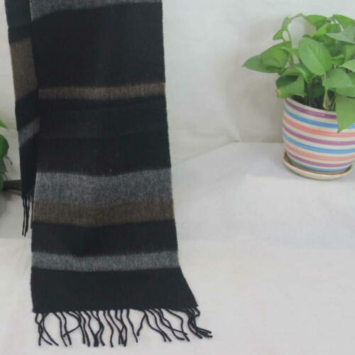 Sale New Vintage Mans Cashmere Wool Warm Striped Scarves Scarf GIFT 78097