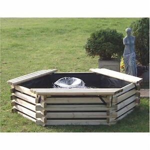 New garden pool 100 gallon liner pump fish pond tank for Koi pond gallons