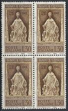 1961 ITALIA PLINIO IL GIOVANE QUARTINA MNH **