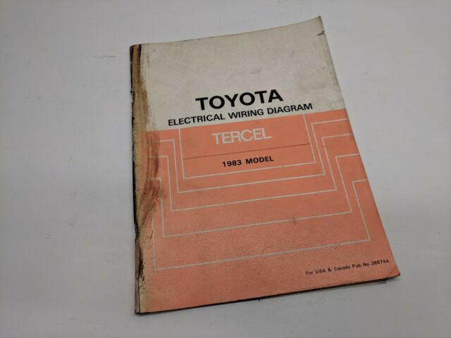 1983 Toyota Tercel Electrical Wiring Diagram Oem Factory