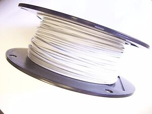 WHITE Vinyl Coated Wire Rope Cable,1/16 - 3/32, 7x7, 250 ft Reel ...