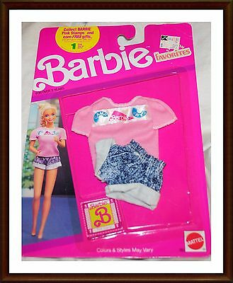 Vintage Barbie Clothes - Fashion Favorites - 1980's - NRFP Mattel -  Lot 7