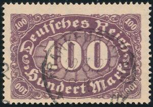 DR-1922-MiNr-219-DD-Doppeldruck-gestempelt-Befund-Weinbuch-Mi-400