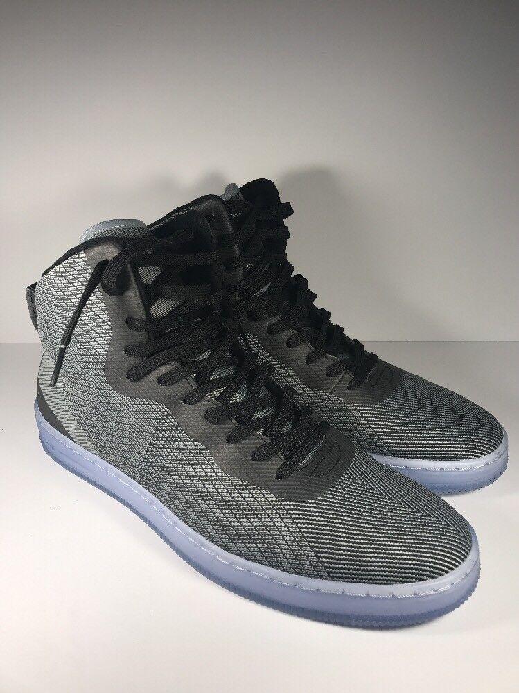 NEW Nike Pro Stepper BB Grey Black Blue 776086-002 Size 11.5