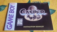 Game Boy Casper original Anleitung Instruction