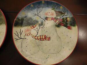New SUSAN WINGET Certified International SNOWMAN Enchanted Christmas ...