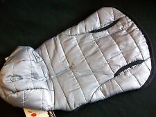 Pet Dog Puppy Coat Jacket Worm Winter Costume Hood Snap Gry X-Smill Black Trim