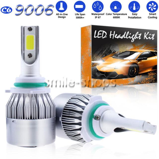 1300W LED Headlights Kit 9006 HB4 6000K White Low Beam For