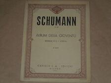 SPARTITO MUSICALE D'EPOCA SCHUMAN-ALBUM DELLA GIOVENTU'-ANNO 1946-PAGINE 60