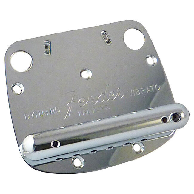 Genuine Fender Mustang Dynamic Guitar Tremolo Vibrato Bridge Tailpiece - Chrome