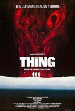 Framed Retro Movie Poster – John Carpenter The Thing (Replica Print Horror Film)