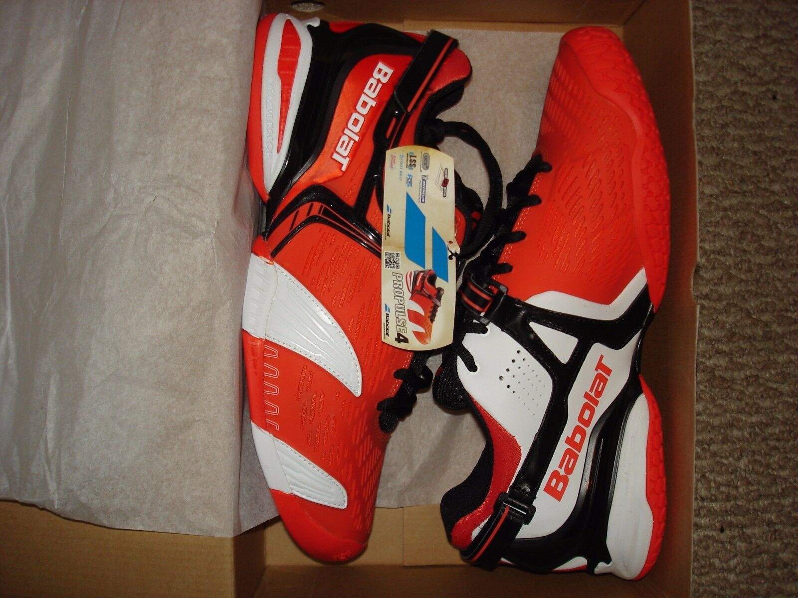 New in Box Babolat Propulse 4 ALL Court Homme chaussures de tennis 30S1372 Taille 12.5
