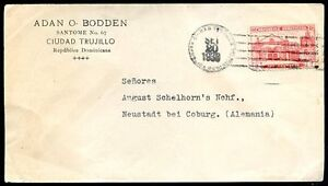 DOMINICAN-REPUBLIC-TO-GERMANY-Cover-1938-VF