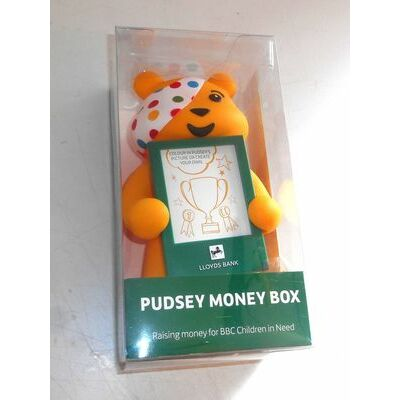 Lloyds Bank & BBC Children in Need ~ Pudsey Bear ~ Moneybox ~ Bank ~ New in Box