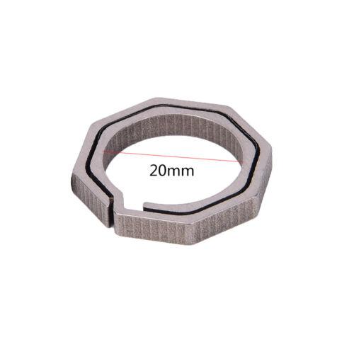Titanium Alloy EDC Key Ring Quick Draw Keychain Bottle Opener Octagon Ring HC