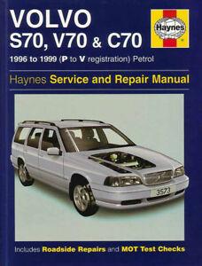 shop manual service repair book s70 v70 c70 volvo haynes chilton rh ebay co uk 1999 volvo c70 owners manual pdf 1999 Volvo XC90