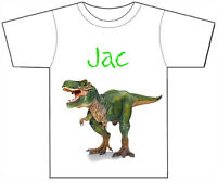 PERSONALISED DINOSAUR/T REX T-SHIRT PRINTED WITH ANY CHILDS NAME GIRLS/BOYS