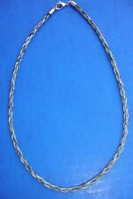 "Western Jewelry 18"" Braided Salt N Pepper Horse Hair 4 MM Necklace"