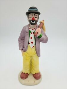 Emmett-Kelly-Jr-Clown-Figurine-by-Flambro-8-034-Pouting-Hobo-with-Knapsack