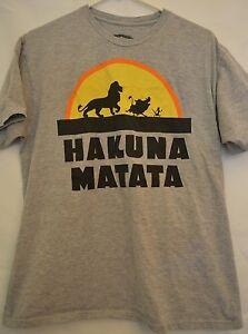 Disney Lion King T Shirt Hakuna Matata Simba Timon Pumba Large Ebay