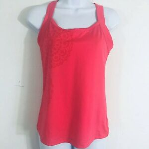40d215b126a2c Danskin Now Womens Athletic Tank Top Sz M Coral Built in Bra Yoga ...