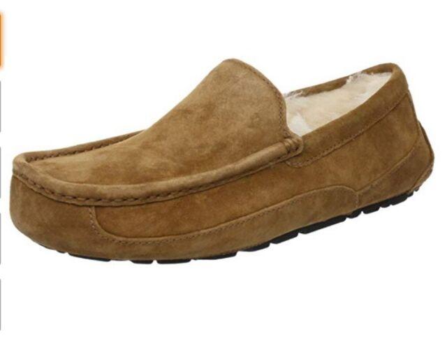 21d6cd10691 UGG Men's Ascot Casual Comfort Suede SLIPPER Loafers Chestnut 5775 12