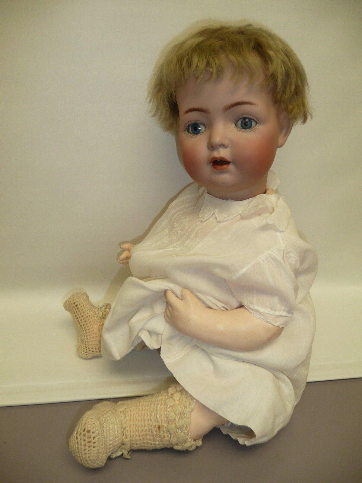 Estrella de 22  K R 121 bebé, artículos de papelería Ojos Azules De Cristal, cuerpo de bebé Repintado