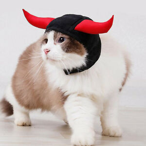 Pet-hat-dog-cat-hat-costume-cute-horn-for-cat-halloween-dress-up-with-ears-US