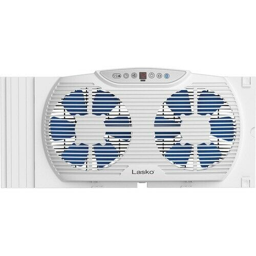 Lasko Electrically Reversible Twin Window Fan with Bluetooth