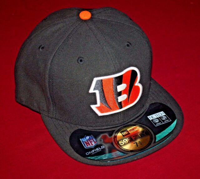 844a062c7c0b4d Cincinnati Bengals New Era hat 59fifty fitted 7 ¾ cap adult NFL on field  game