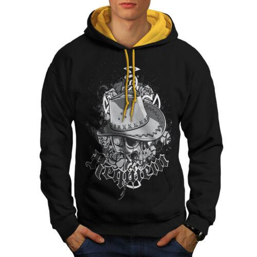 Dead cappuccio New Cowboy oro Contrast Skull Men Black Fashion Hoodie TZS8qdqw